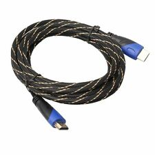 New Braided HDMI Cable V1.4 AV HD 3D for PS3 Xbox HDTV Meters 1080P DF 0.5M-10M