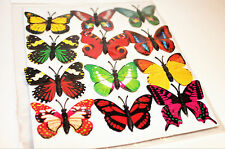 Gorgeous 3D small  Butterfly Fridge Magnets. SET OF 12. Look great!!  Gift. Asst