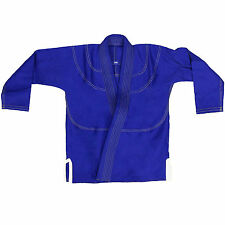 VANS Blank Kids Jiu Jitsu Gi Youth Training Gracie Brazilian Suit BJJ kimono