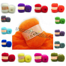 Wholesale! 51 Colors Luxury Angola Mohair Cashmere Wool Yarn Skein Lot;Fine