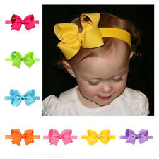 1Pcs Elastic Band Headband Bow Soft knot Baby Flower Hair Accessories Hairband