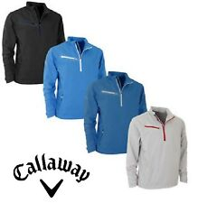 MENS CALLAWAY LONG SLEEVE 1/4 ZIP GOLF WIND STOPPER PLAYING JACKET FREE UK P/P