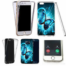 360° Silicone gel full body Case Cover for many mobiles - futuristic butterfly.