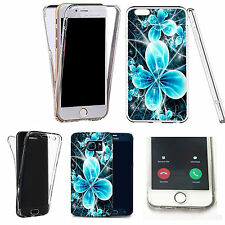 Shockproof 360° Silicone Clear case cover for many mobiles- futuristic flower