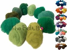 Needle Felting Wool, Carded wool for Felting, Take a Pick, 100g, The Felt Box