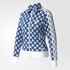 adidas Originals Women FIREBIRD TRACK JACKET Blue/Pearl Opal-Size 6,8,10,12 Or14