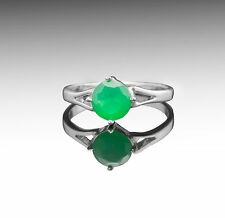 925 Sterling Silver Ring with Natural Round Green Onyx Gemstone Handmade eBay.