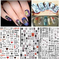 New Words 3D Nail Art Sticker Adhesive Nail Tips Decal DIY Beauty Manicure Decor