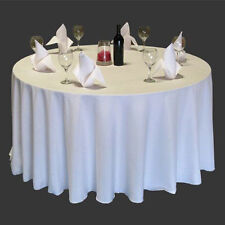 """New 90"""" Round Table Cover Tablecloth Pattern Wedding Banquet Party Polyester"""