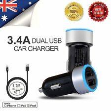 Universal Double 2USB Port Car Charger Adapter For iPhone 5S 6 Plus Samsung ipad