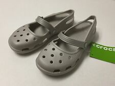 Crocs Shayna Platinum Women mary Jane Flat All Size 5 6 7 8 9 10 11 12