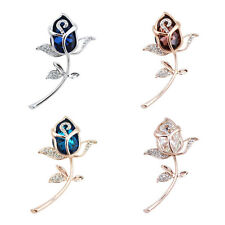 Rose Flower Rhinestone Brooch Crystal Clothing 1Pcs Alloy Brooches jewelry Gift