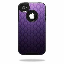 Skin Decal Wrap for OtterBox Commuter iPhone 4 Case Antique Purple