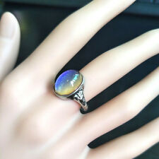 Kids Adult Magic Temperature Emotion Feeling Mood Ring Band+Color Changing Char