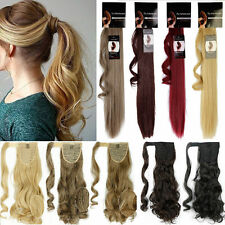 Lady Wrap around Ponytail Hair Extension Straight Wavy Ombre as Real Thick piece