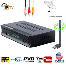 MPEG-4/HD DVB-S2 Digital Satellite Receiver IPTV Combo TV Tuner IKS PVR Youtube