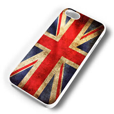 UNION JACK FLAG WHITE PHONE CASE COVER FITS IPHONE (#WH)