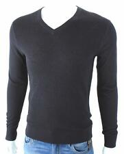 Armani Exchange A|X Mens V Neck Merino Wool Pullover Sweater Navy NWT