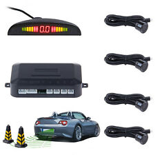 Car Backup Reverse Radar System Monitor Parking Kit 4 Sensor Backlight Display