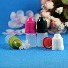 10 Sets 3mL Plastic Dropper Child Safety Proof Bottles Squeezable Liquid 3 mL