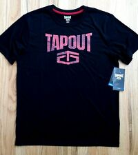 NWT New Mens Black moisture wicking TAPOUT T-Shirt Med, XL, XXL red camo tee