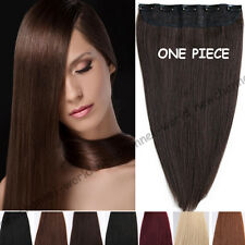 "18""20""22"" Clip in 100% Remy Human Hair Extensions One Piece 100G Full Head B428"