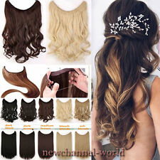 US Secret Wire Hair Extension Straight Hair Piece Long as Human Blonde Ombre New