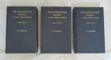 The London Stage 1920-1929: A Calendar of Plays and Players: v.1-3 Hardback 1984