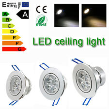 Lots 1/10/20pcs Dimmable LED Recessed Ceiling Down Light 9W 12W 15W Lamp& driver