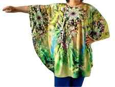 New PLUS SIZE Loose Fit Tops Top Dress Shirt Tunic Bat Sleeve Spandex, Bust 54""