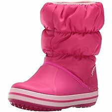 Crocs 14613 Girls Winter Puff Toddler Quilted Snow Boots Pink 8(B