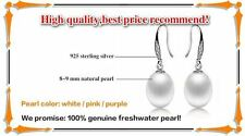 Natural Freshwater Pearl Stud Earrings With 925 Sterling Silver Jewelry For Wome