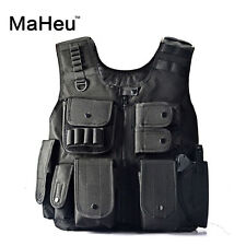 Tactical War Game Vest Army Polyester Airsoft Black Outdoor-Vest Kit For Camping