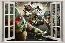 Ninja Turtles TMNT 3D Window Decal WALL STICKER Art Mural Out Of The Shadow H258
