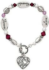 EXPRESSIVELY YOURS SILVER FINISH CHARM BRACELETS