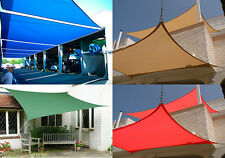 New Deluxe Rectangle Square Sun Sail Shade Canopy Top Cover Sand Green Red