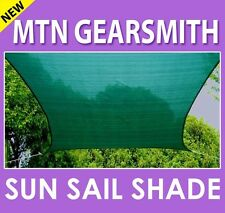 New Deluxe Rectangle Square Sun Sail Shade Canopy Top Cover Color Green