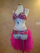 Unique Clearence Sale: Showgirl Samba Burlesque Costume 2pc NWT $179 sml