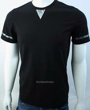 Armani Exchange A|X Mens Metallic Stripe Logo Crewneck Stretch Tee Shirt NWT