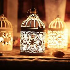 Decorative Shabby Chic Bird Cage Hanging Lantern Votive Candle Holders