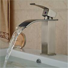 Modern Bathroom Fixtures Waterfall Basin Tap Sink Mixer Tap Bath Water Faucets