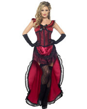 Adult's Womens Western World Brothel Babe Red Corset Dress Costume