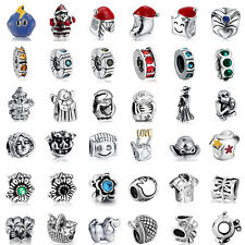 925 European Sterling Cz Silver Charm Beads for Charms Bracelet Necklace US25
