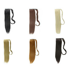 Lady Hairpiece Ponytail Fashion Wig Soft Long Straight Tail Hair Cosplay Costume