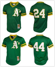 Men' Oakland Athletics Green Throwback Cooperstown Mesh Batting Practice Jersey