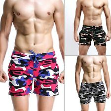 Mens Cotton Camouflage Pants Casual Shorts Sports Football Short Pants Trousers