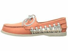 Sperry Top-Sider A/O Haven Women Boat Shoes STS95546 Leather Loafer Coral Sz 8.5