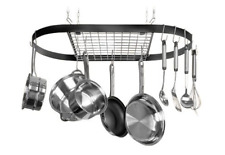 Ceiling Rack Pot Pans Hang Top Kitchen Storage Saucepan Griddle Wok Pasta Boiler
