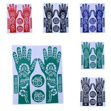 DIY India Henna Tattoo Stencils Hand Foot Body Art Sticker Flower Cut Stencil