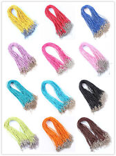 Wholesale Lots 100Pcs Snake Hemp Rope Silver P Cords Necklace DIY 45+5CM Choose~